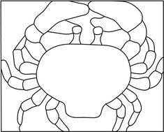 patterns for stained glass | Free Stained Glass Pattern : Blue Crab