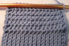 Tunisian crochet purl stitch - softer than the basic stitch  . . . .   ღTrish W ~ http://www.pinterest.com/trishw/  . . . .