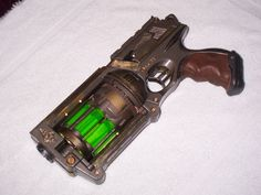 "nerf maverick mod with ""plasma"" cartridges. Steampunk Gun Mod - Mad Scientist Version (pic heavy)"