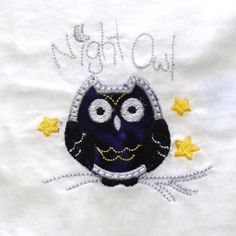 Infant Baby Bib Night Owl Applique by GabbysQuiltsNSupply on Etsy, $6.98