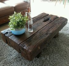 Couchtisch alte Eichenbalken Eiche shabby Holz Tisch rustikal