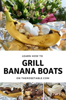 This is such a fun & easy summertime recipe! Fire up the grill or cook over a campfire. You can customize your banana boats so many different ways so the possibilities are endless!