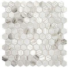 Hexagon Calacatta Matte Mosaic Tiles Uk, Wall Tiles, Hexagon Mosaic Tile, Calacatta, Contemporary Decor, Bathroom Inspiration, Tile Floor, Design Ideas, Home Decor