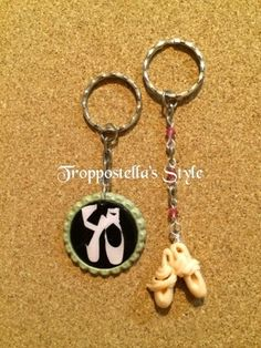 Troppostella's Style: Portachiavi danza in Fimo