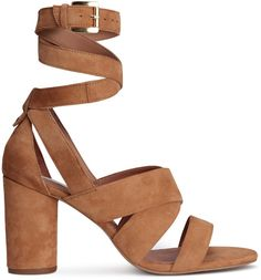 Suede sandals add a touch of luxe to your look.