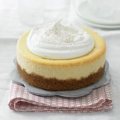 Feature a classic holiday beverages in a rich and creamy eggnog cheesecake that's ideal for the holidays. But you can have it any time of year, even if cartons of eggnog are not available, because you make your own eggnog mixture with eggs, sugar, whipping cream and brandy.