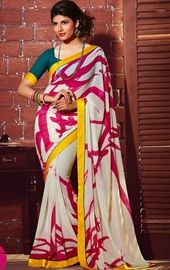 Picture of Butta Off White Printed Saree