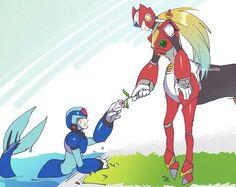 Megaman X: Imagenes - ZeroX: Comic - 1 - Wattpad Megaman Series, Art Diary, Lovey Dovey, Mega Man, Ben 10, Zero, Mint, Wattpad, Fan Art