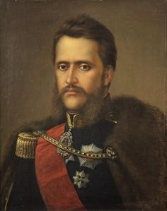 Alexandru Ioan Cuza (portrait by Mișu Popp) (Alexandru Ioan I, also anglicised as Alexander John Cuza; 1820 – 1873) was Prince of Moldavia, Prince of Wallachia, and later Domnitor (ruler) of the Romanian Principalities. He was a prominent figure of the Revolution of 1848 in Moldavia. He initiated a series of reforms that contributed to the modernization of Romanian society and of state structures. Romanian People, Word Pictures, Dracula, Pet Portraits, Revolution, History, Character, Portraits, Photos