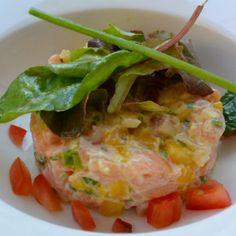 Tartaar van rauwe zalm met mango  ♥ Foodness - good food, top products, great health