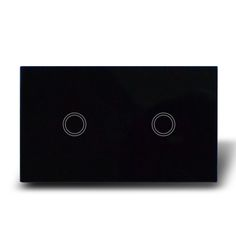 Black Glass touch light switches/ON/OFF touch buttons switch 2 gang 1 way #Affiliate