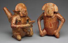 Pair of Figure Vessels, 12th–15th century Mexico; Mixtec-Colima Ceramic