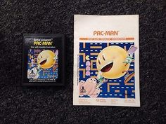 Atari Pac-Man Vintage Game And Instruction Booklet