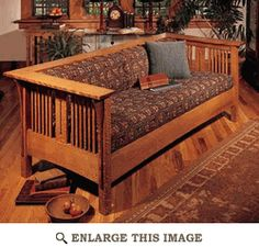 Arts and Crafts Mission Sofa and Chair Woodworking Plan, Indoor Home Furniture Project Plan   WOOD Store