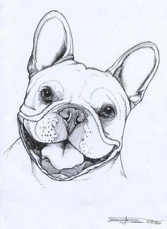 Malvorlagen Französische Bulldogge zum Drucken