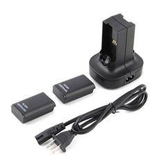 Xbox 360 Controller Charger YKS Charging Station Charger Dock+2X 4800mAh Rechargeable Battery for Xbox 360