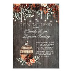 Shop Wine Barrel Rustic String Lights Burgundy Wedding Invitation created by lovelywow. Personalize it with photos & text or purchase as is! Rustic Bridal Shower Invitations, Burgundy Wedding Invitations, Country Wedding Invitations, Graduation Party Invitations, Rehearsal Dinner Invitations, Engagement Party Invitations, Bridal Shower Party, Bridal Shower Rustic, Rustic Wedding