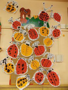 Art For Kids, Crafts For Kids, Arts And Crafts, Daycare Crafts, Kindergarten Art, Preschool Art, Ladybug Nursery, Earth Day Crafts, Bug Art