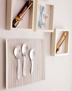 How To Decorate Your Walls Using Different Tableware, i can think of so many things to use this technique with.