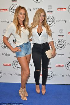 Co-stars: Marnie's Geordie Shore co-stars Charlotte and Holly cut very glamorous figures at the charity party at Chinawhite Charlotte Letitia, Charlotte Crosby, Geordie Shore, Fashion 2017, Fashion Outfits, Womens Fashion, Jeans For Genes, Newcastle, Holly Hagan