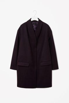 Overlap front coat