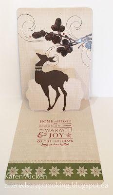 Altered Scrapbooking: Deer and Pinecones Pop-Up Christmas Card
