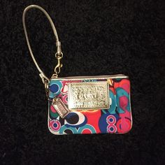 Coach wristlet Colorful coach mini wristlet. Brand new never used Coach Bags Clutches & Wristlets