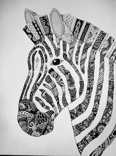 Zentangle Animals Zebra zentangle by duuma