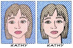 Self Portraits - Roy Lichtenstein was a prominent American pop artist who favored old fashioned comic strips as a subject matter.