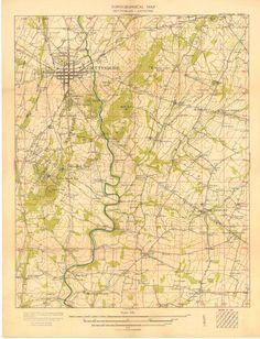 Gettysburg  Antietam Topographical Map 1924 by DesignerMapPrints, $39.95 www.galeyrie.com