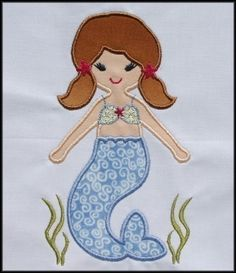 INSTANT DOWNLOAD Star Mermaid Applique by DBembroideryDesigns, $3.99