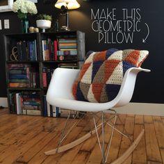 How To #Crochet Geometric Pillow   MrsAmberApple