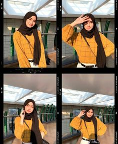 Casual Hijab Outfit, Ootd Hijab, Girl Hijab, Hijab Chic, Street Hijab Fashion, Muslim Fashion, Hijab Fashion Inspiration, How To Pose, Beautiful Hijab