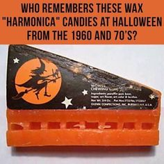 """Who remembers these wax """"harmonica"""" candies at the halloween from the 1960 and 90s Childhood, Childhood Memories, School Memories, Vintage Halloween, Halloween Fun, Halloween Sweets, Halloween Decorations, Nostalgia, Penny Candy"""