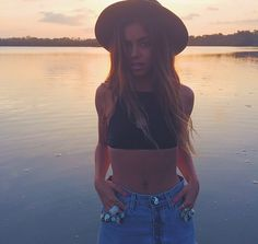 Mimi Elashiry in the Bliss top by Kaohs Swim