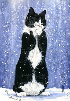 Caught A Snowflake ..... Irina Garmashova Art