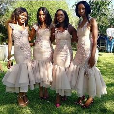 South African Ankle Length Mermaid Bridesmaid Dresses Appliques Flowers Spaghetti Backless Criss Cross Straps Country Maid Of Honor Gowns Mermaid Bridesmaid Dresses, African Bridesmaid Dresses, Turquoise Bridesmaid Dresses, African Wedding Dress, Evening Wedding Guest Dresses, Wedding Gowns, Bridal Gowns, African Fashion Dresses, Marie