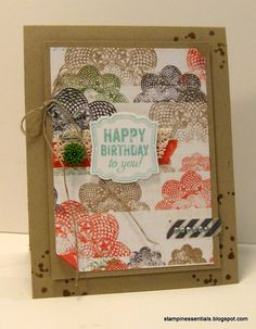 Stampin' Up! Happy Birthday to you card #ArtisanLabelPunch #Birthday