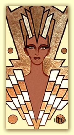 The Archives 9 - Egyptian Art Deco Paintings