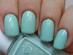 #mint Essie nail polish.  this is what im searching for