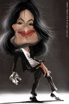 Cool and Funny Celebrity Caricatures A caricature is a rendered image with enhanced or simplified features. Some caricatures can be in. Funny Caricatures, Celebrity Caricatures, Celebrity Drawings, Celebrity Faces, Michael Jackson, Caricature Artist, Caricature Drawing, Drawing Art, Cartoon Faces