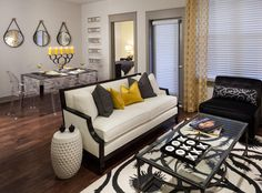 Living & Dining Room for an apartment - designed to sell...AMLI on Maple - Dallas Apartments - Luxury Dallas Apartments