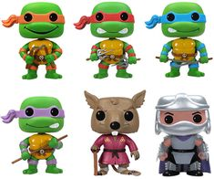 Teenage Mutant Ninja Turtles Pop! Vinyl Figures. I want these because of reasons! If you know me, you know EXACTLY why. ^_^