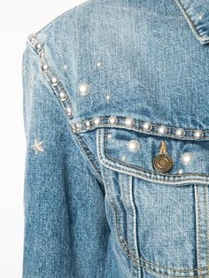 Saint Laurent Studded Denim Jacket - Kirna Zabête - Farfetch.com