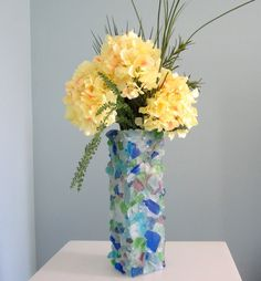 Nautical Decor Beach Glass Vase  Beach by beachgrasscottage, $75.00