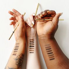 When you finally find your perfect (brow) match 🥰  We are so pumped to have finally found the clean, effective, something-for-everyone, always-asked-about brow pencil we've been searching for! These @browluxeca pencils just hit the shelves, and you've already been loving them.  Browluxe offers 8 shades to match and accommodate each and every undertone, skin tone, and hair colour. The unique but universal tones can match each individual in a custom way, yet swing easily between different… Company Gifts, Beauty Companies, Brow Shaping, Perfect Brows, Your Perfect, Hair Colour, Skin Tone, Natural Looks, Searching