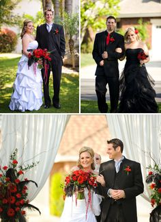 not too crazy about the black bridesmaid dresses . . . but i like the suits