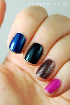 I swatched one of these on my nail yesterday and loved it. Marc Jacobs nail polish.