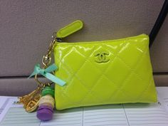 Chanel key pouch + Laduree keychain.
