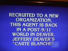 And the answer is:  Who is James Bond?